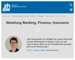 ZHAW School of Management and Law - Abteilung Banking, Finance, Insurance